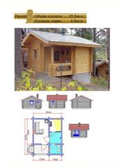 Каркасные дома и дома из оцилиндрованного бревна.